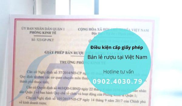 Tìm hiểu điều kiện cấp giấy phép bán lẻ rượu tại Việt Nam