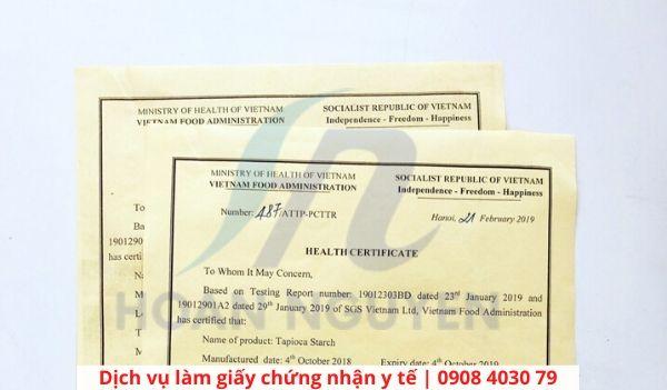 Dịch vụ làm giấy chứng nhận y tế tại HOÀN NGUYÊN