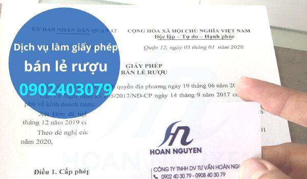Dịch vụ làm giấy phép bán lẻ rượu quận Tân Phú - TPHCM
