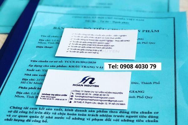 Dịch vụ công bố tiêu chuẩn khẩu trang vải UY TÍN - NHANH CHÓNG