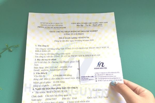 Dịch vụ làm giấy phép kinh doanh HOÀN NGUYÊN