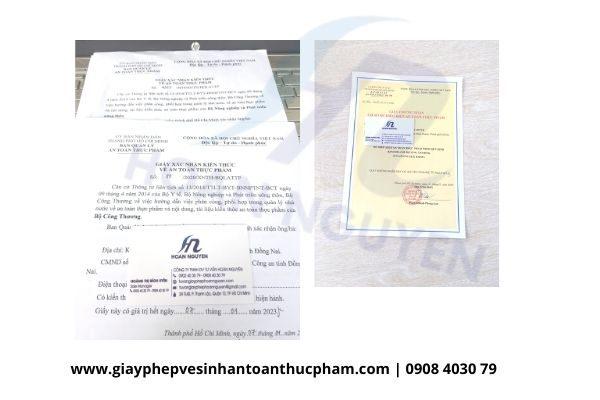 Hồ sơ xin giấy chứng nhận đủ điều kiện an toàn thực phẩm loại hình sản xuất