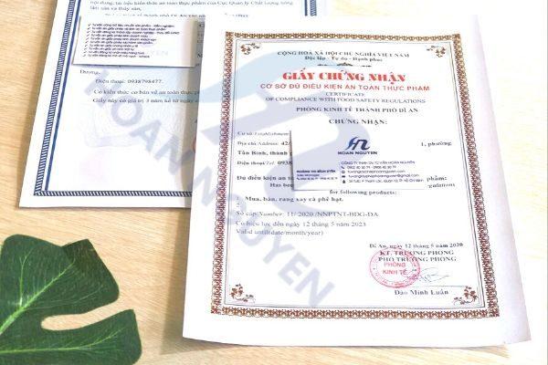 Hướng dẫn giấy phép an toàn thực phẩm cơ sở sản xuất da cá sấy giòn