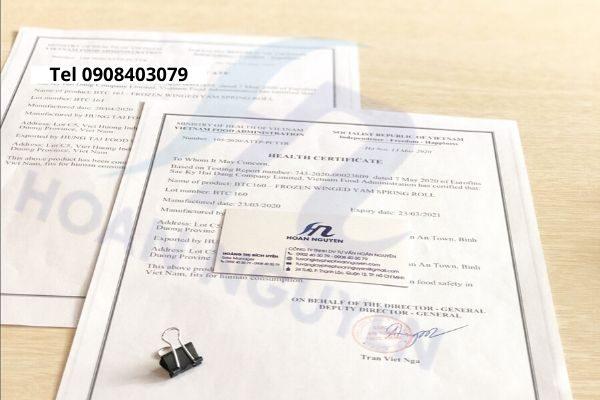 Hồ sơ xin giấy chứng nhận health certificate gạo xuất khẩu (Ảnh HOÀN NGUYÊN)