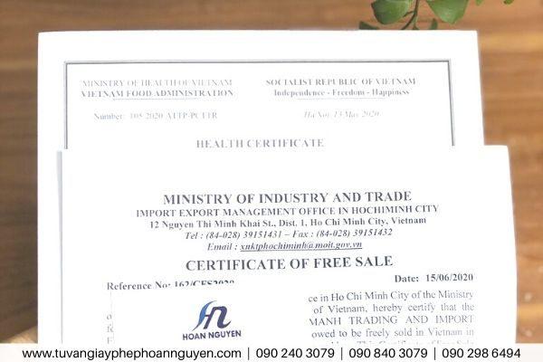 Dịch vụ xin chứng nhận health certificate nước ép trái cây (Ảnh HOÀN NGUYÊN)