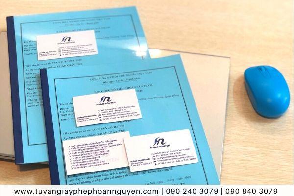 Bản công bố tiêu chuẩn cơ sở khăn giấy tre HOÀN NGUYÊN thực hiện