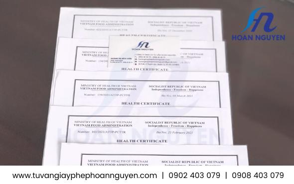 Health Certificate giấy chứng nhận y tế tại Hà Nội